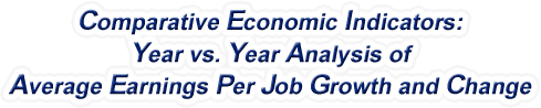 New Jersey - Year vs. Year Analysis of Average Earnings Per Job Growth and Change, 1969-2016
